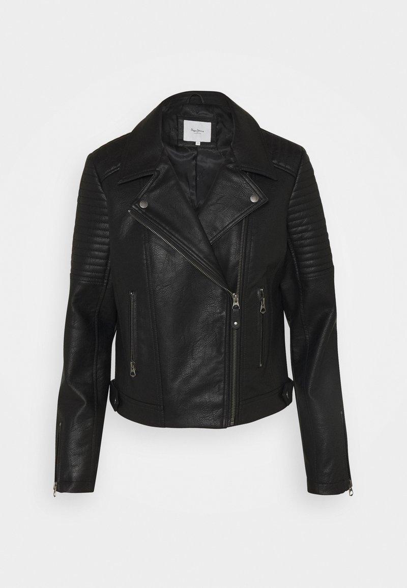 Pepe Jeans - SUSANE - Faux leather jacket - black
