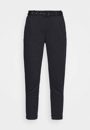 BELTED TROUSER - Trousers - dark blue