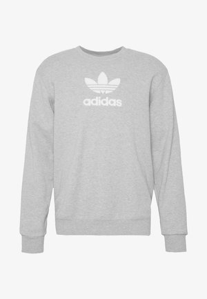 ADICOLOR PREMIUM LONG SLEEVE PULLOVER - Sweatshirt - medium grey heather