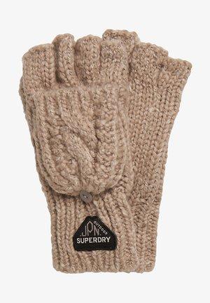 GRACIE - Fingerless gloves - corn tweed