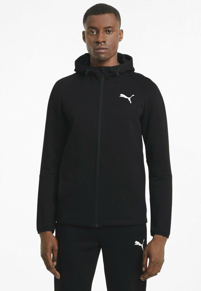 Puma - veste en sweat zippée - black