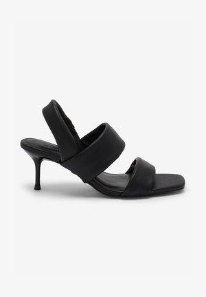 TUBE - High heeled sandals - black