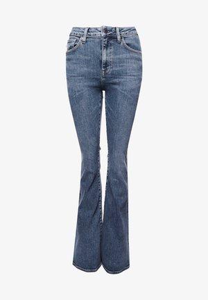 Flared Jeans - dark indigo aged