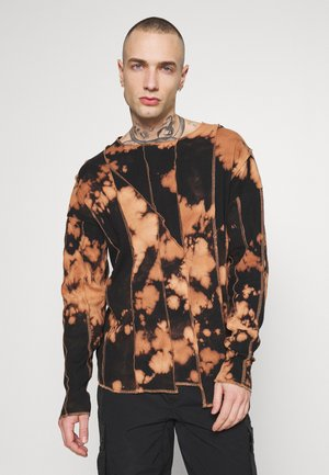 BLEACHED CUT AND SEW EXPOSED SEAM - Long sleeved top - black