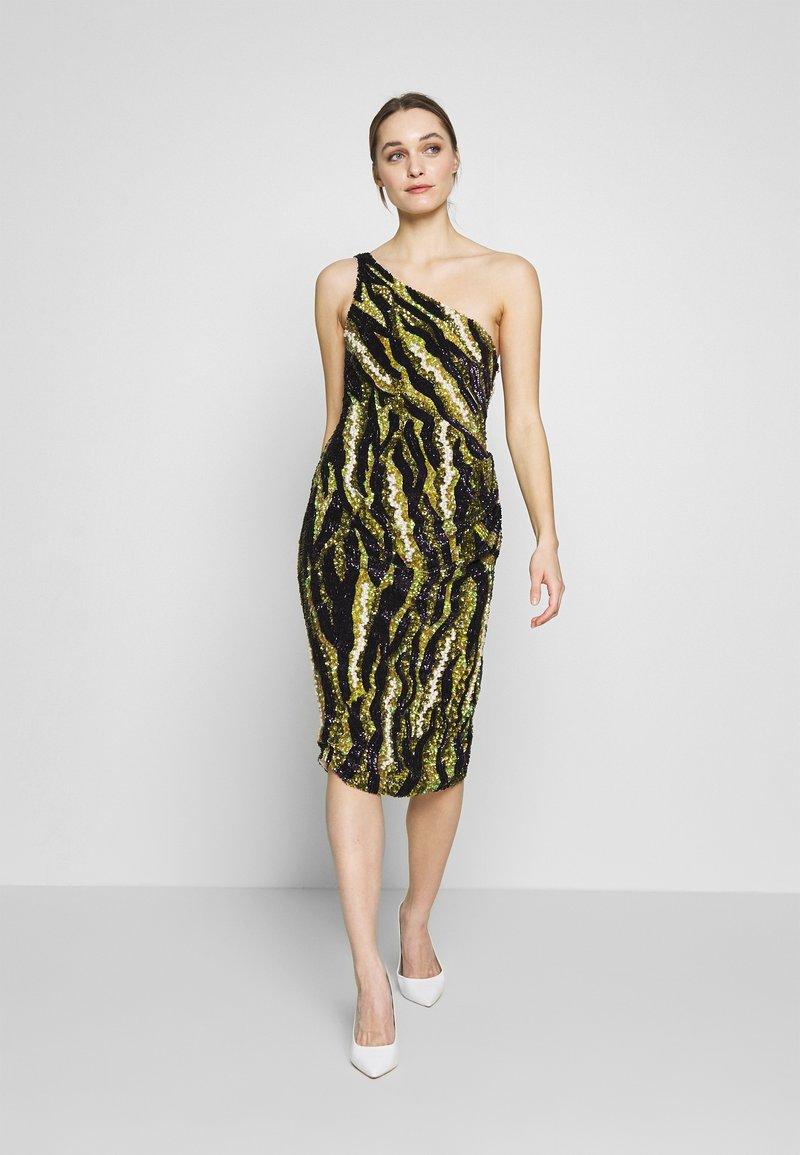 MANÉ - FOREST DRESS - Sukienka koktajlowa - nude/moss