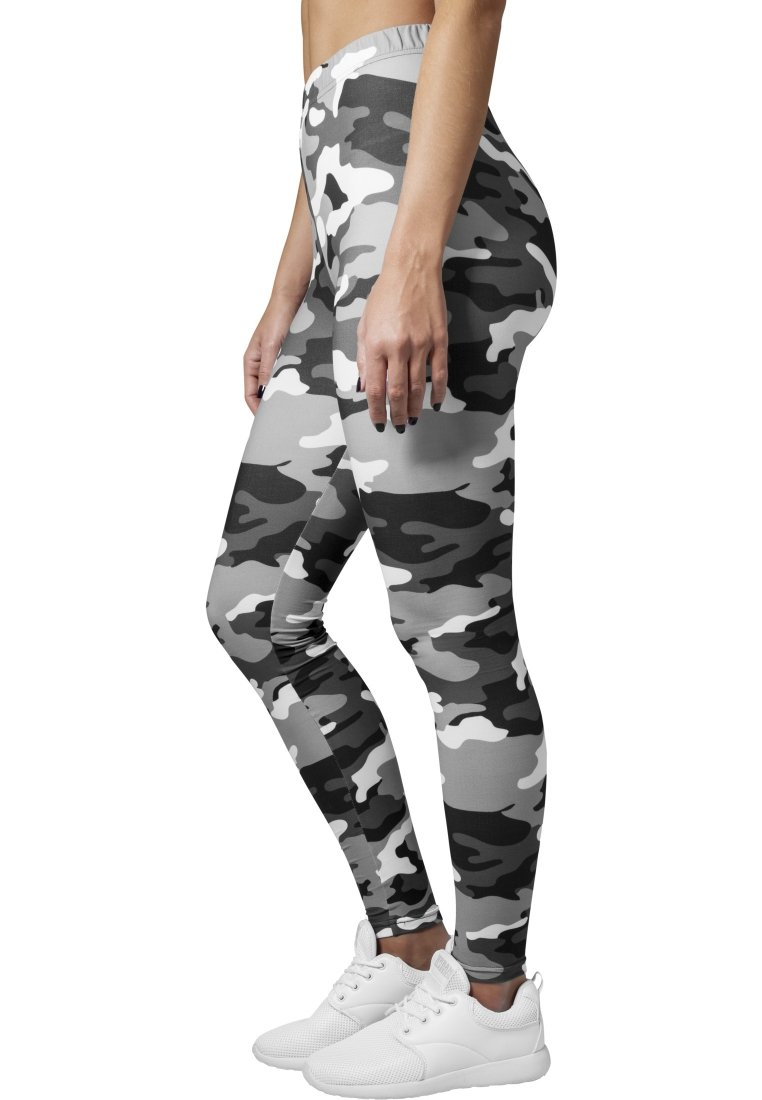 Urban Classics - Leggings - Trousers - snow camo