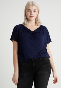 Zalando Essentials Curvy - Basic T-shirt - dark blue - 0