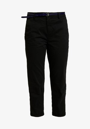 IN STRETCH WITH BELT - Chinos - black