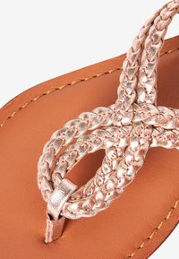Next - TOE ROPE - T-bar sandals - rose gold-coloured - 1