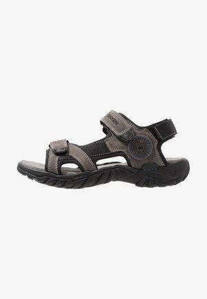 Sandals - asphalt/blau