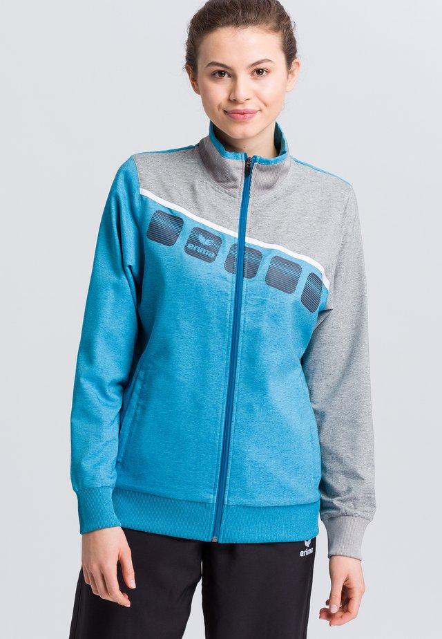 Sports jacket - blue/gray/white