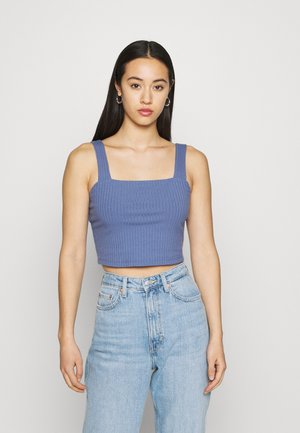 BUILT UP CROP DYE - Top - blue