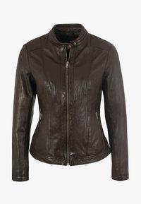 7eleven - URSULA - Leather jacket - chocolate - 3