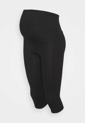 CORE CAPRI OVER BELLY TIGHT - Pantalón 3/4 de deporte - core black