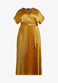 New Look Curves - GO PLEATED DRESS - Day dress - dark yellow - 4
