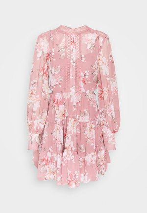 KAI BALLOON SLEEVE DRESS - Shirt dress - burnt pink sienna