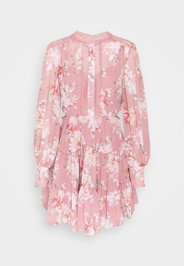 KAI BALLOON SLEEVE DRESS - Skjortekjole - burnt pink sienna