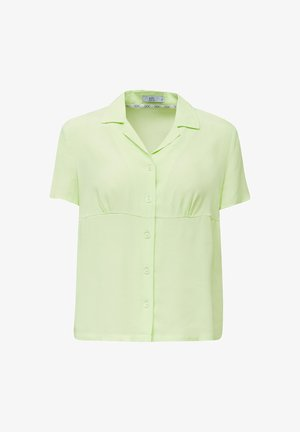 Overhemdblouse - lime yellow