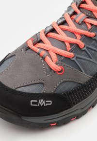 CMP - KIDS RIGEL LOW SHOE WP UNISEX - Hiking shoes - grey/red fluo - 5