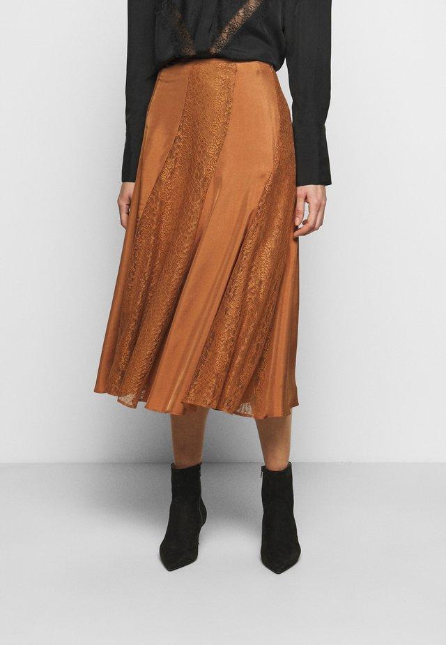 STELMA - Áčková sukně - walnut