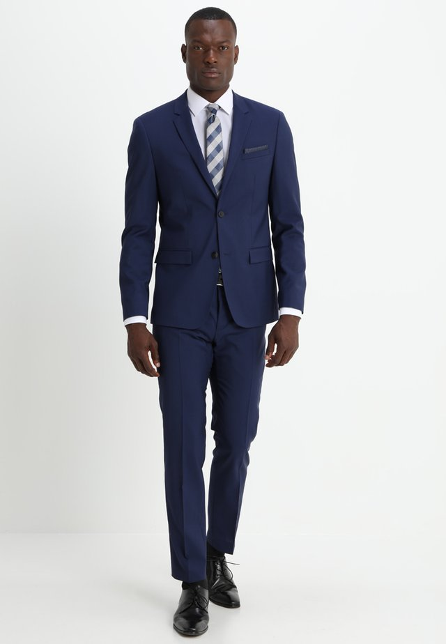 WOOL NATURAL STRETCH FITTED SUIT - Suit - indigo