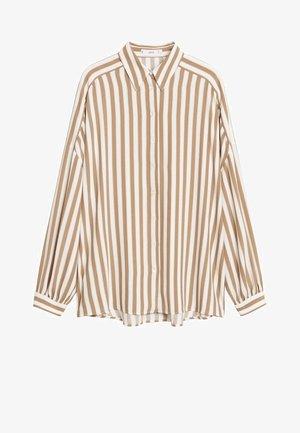 LINER - Button-down blouse - hnědá