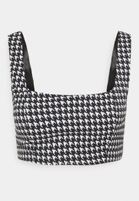 Missguided Petite - ZIP UP BACK DOGTOOTH BRALET AND SLIT FRONT MINI SKIRT  - Mini skirt - black - 1