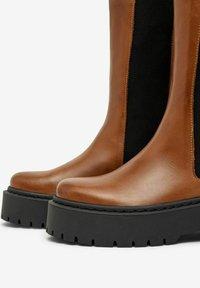 Bianco - BIADEB  - Platform boots - cognac - 3