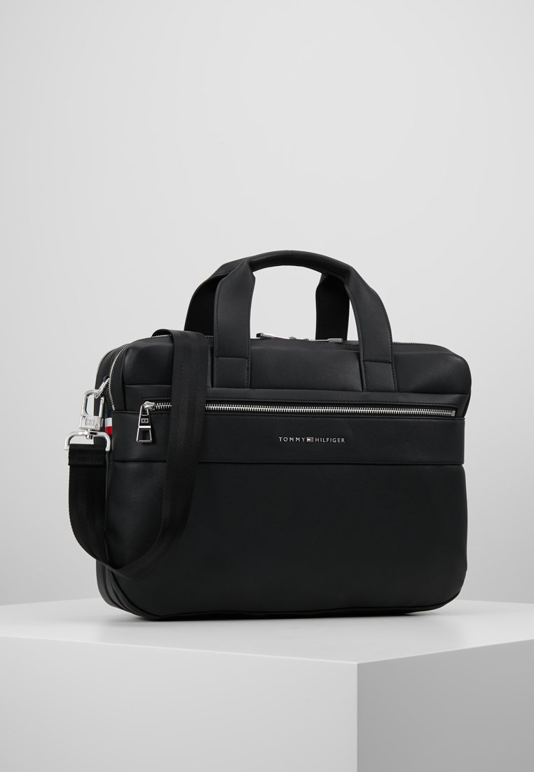 Tommy Hilfiger - NOVELTY MIX WORKBAG - Aktovka - black