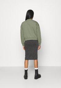 Vila - VIMANY  - Pencil skirt - dark grey melange - 2
