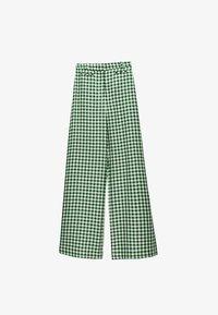 Uterqüe - MIT VICHYKAROS - Trousers - green - 5