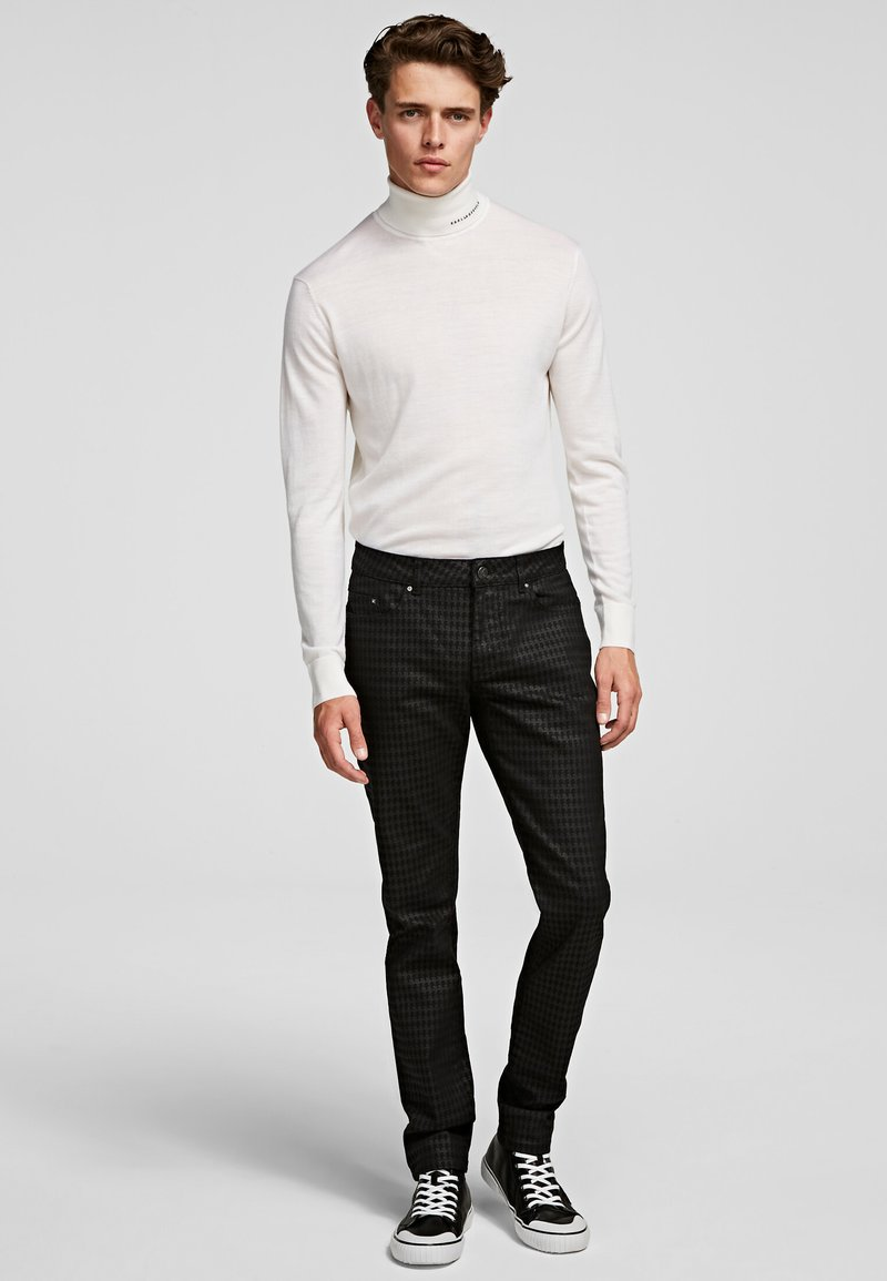 KARL LAGERFELD - Spodnie materiałowe - d01 blk c krlhd