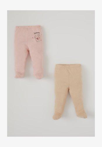 2ER PACK - Trousers - beige