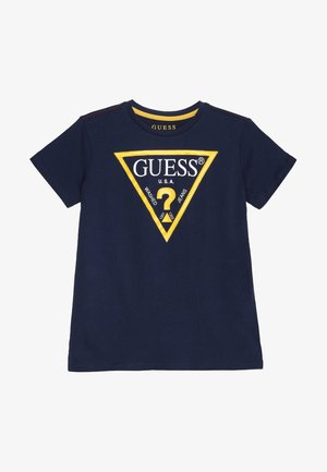 JUNIOR CORE - Print T-shirt - blue/white