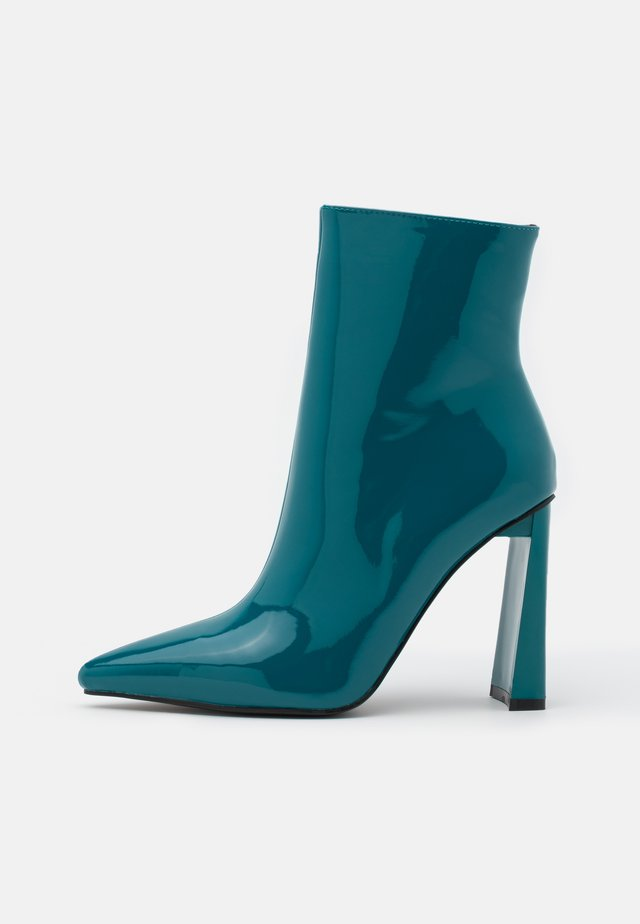 ELEXIS - High heeled ankle boots - blue