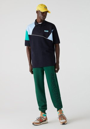 LOOSE FIT - Polo - navy blau / blau / grün