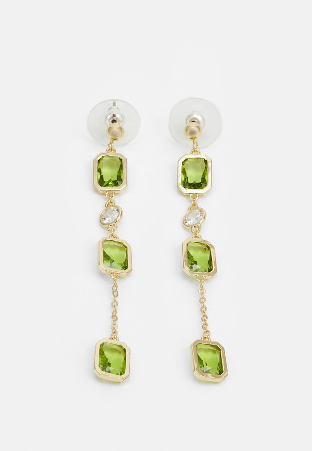 TROY LONG EAR - Earrings - gold-coloured/green