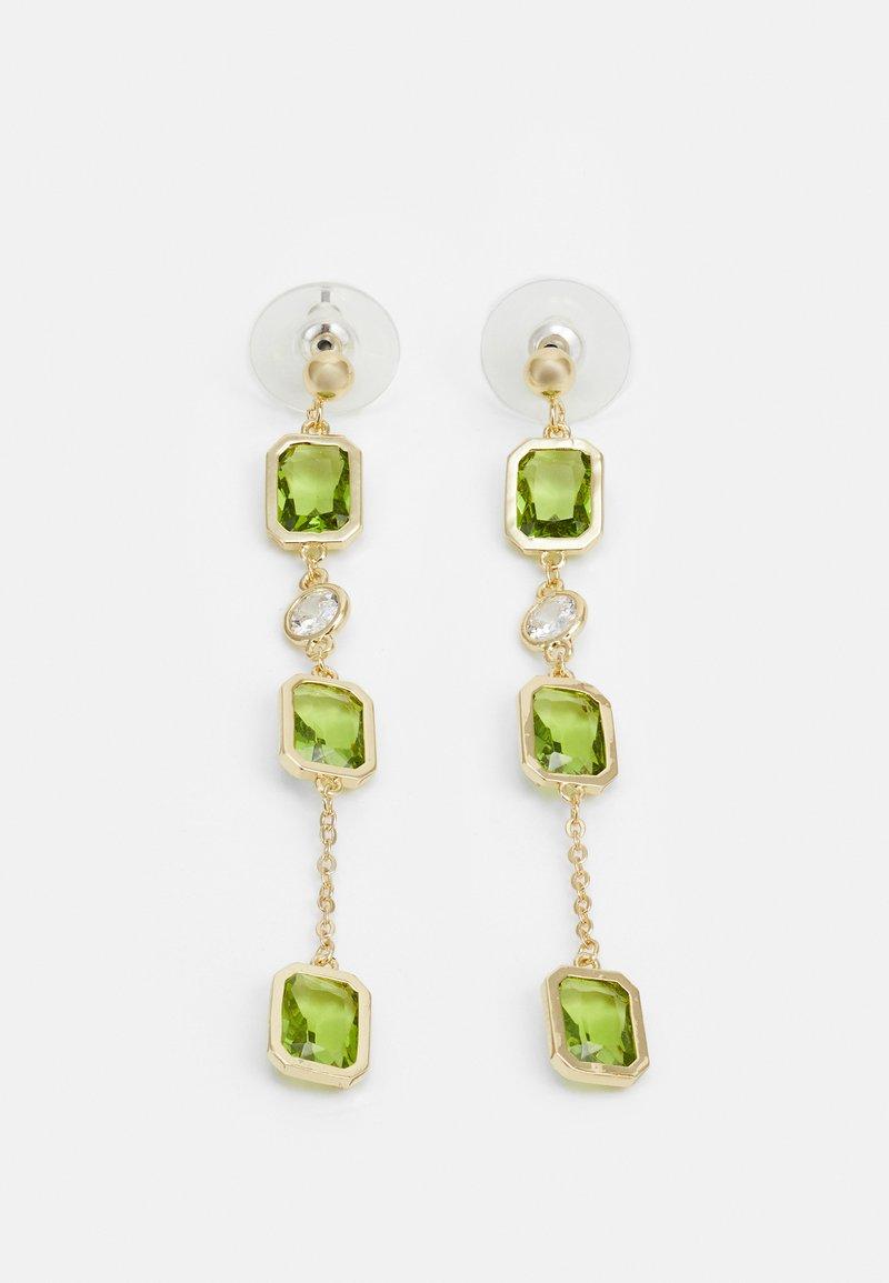 SNÖ of Sweden - TROY LONG EAR - Earrings - gold-coloured/green