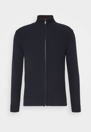 BASIC STRUCTURED JACKET - Gilet - knitted navy