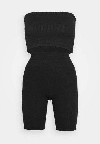 PCCLEO SHORT BRA SET - Top - black