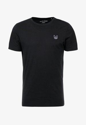 JJEDENIM LOGO TEE O-NECK - T-shirt basique - black/white