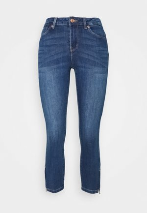 VMTILDE ZIP PETIT - Slim fit jeans - medium blue denim