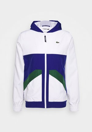 TENNIS JACKET - Verryttelytakki - white/cosmic-green