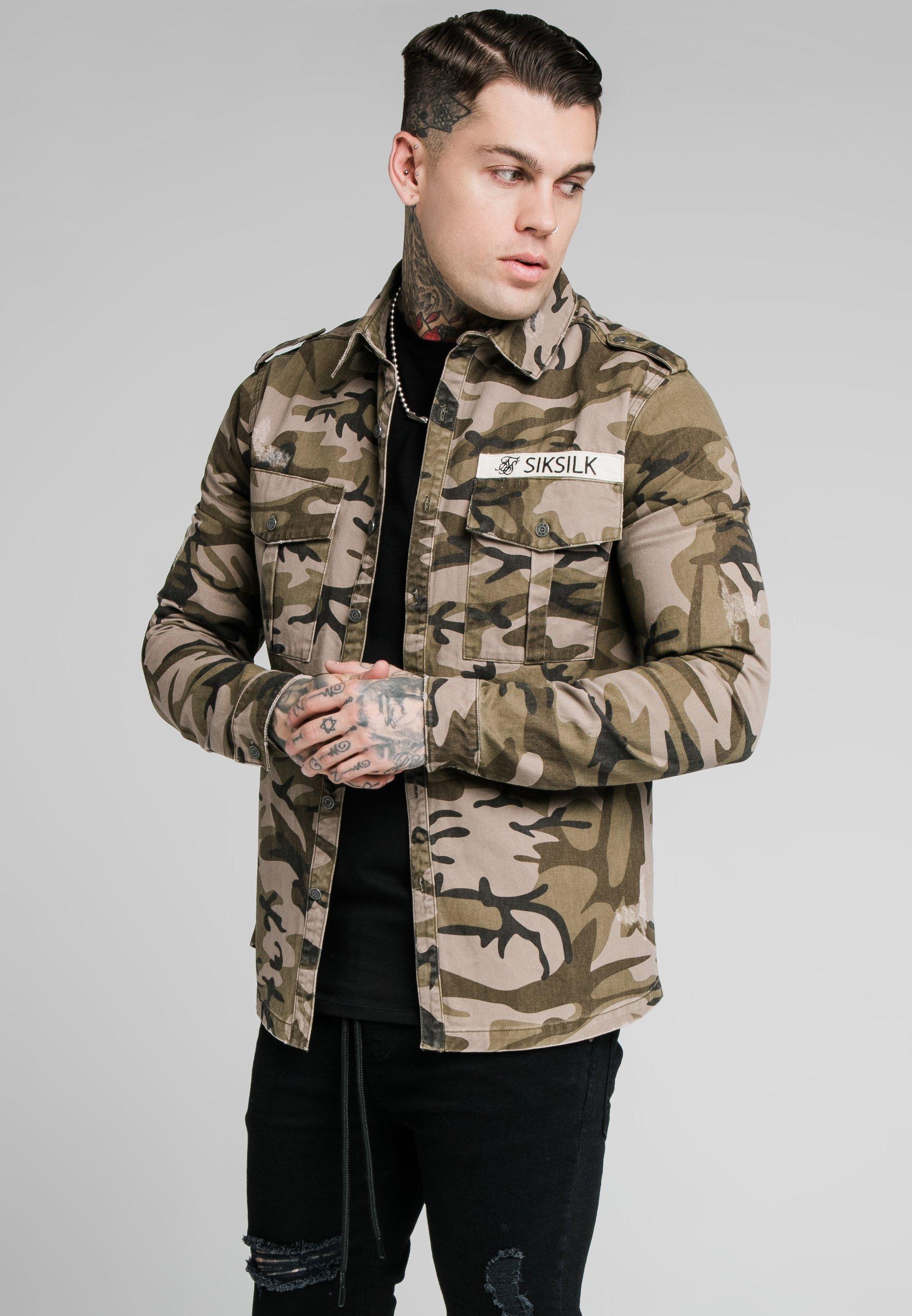 Men UTILITY SHIRT JACKET - Summer jacket