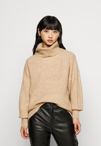 New Look Petite - FASH SLOUCHY ROLL NECK - Jumper - camel - 0