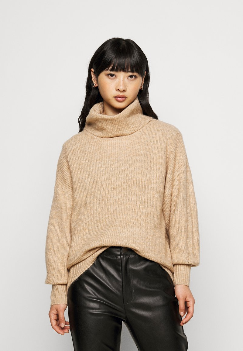 New Look Petite - FASH SLOUCHY ROLL NECK - Jumper - camel