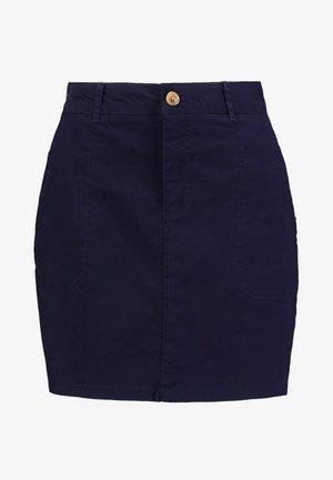 FALDA CHINO - Mini skirt - blues