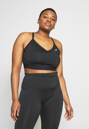 INDY PLUS SIZE BRA - Light support sports bra - black/white