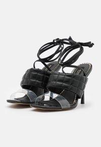River Island Wide Fit - Korolliset sandaalit - black - 2