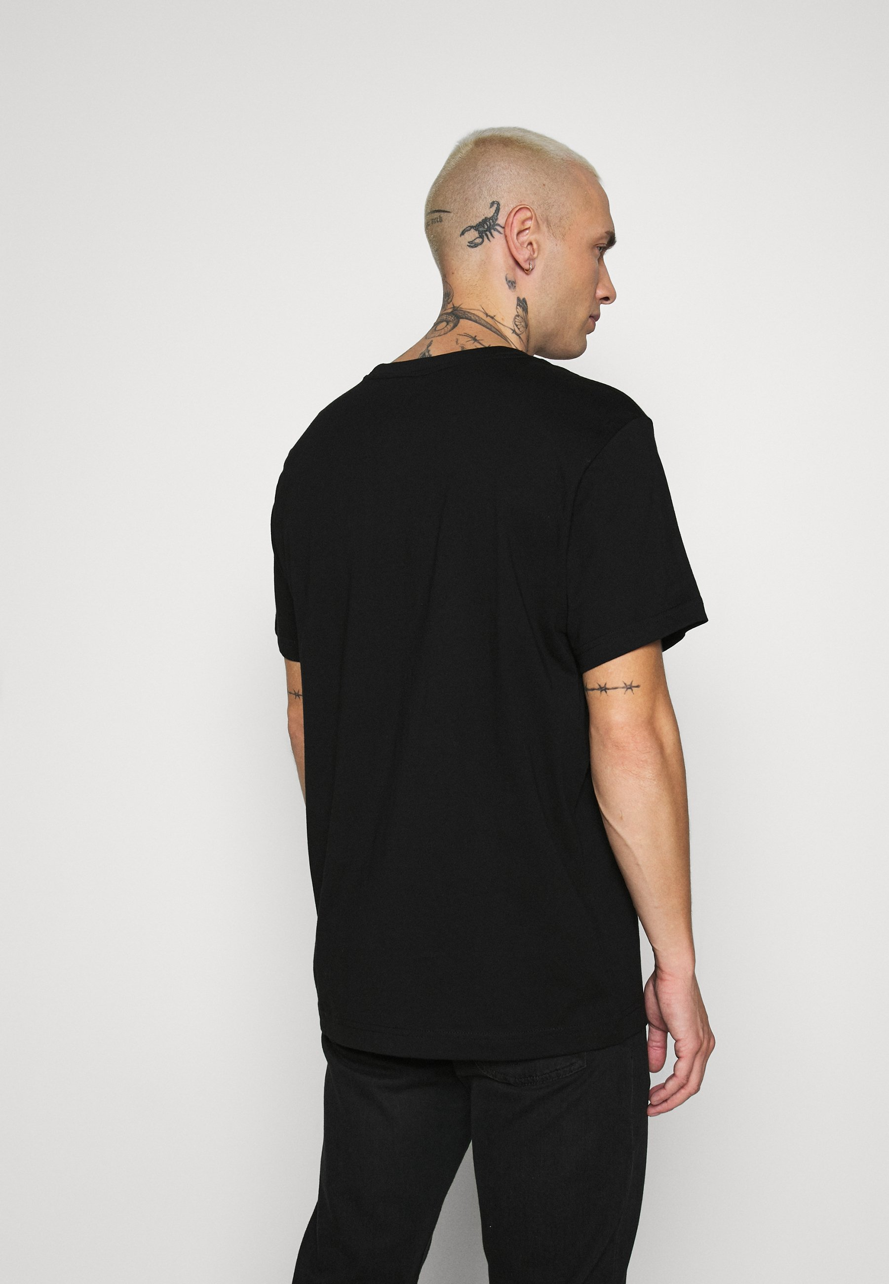 Weekday RELAXED PRINTED  - Print T-shirt - black nKZvF